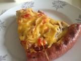 Bratwurst-Pizza