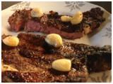 Golden Garlic Bone-In Ribeye Steaks