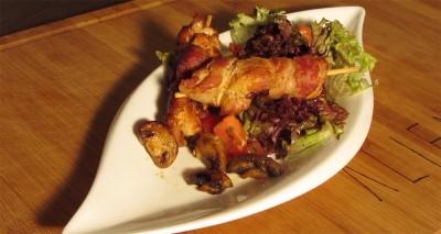 Chicken Bacon Spieße