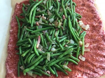 Bohnen-Bombe - Baconbomb mit grünen Bohnen und Speck